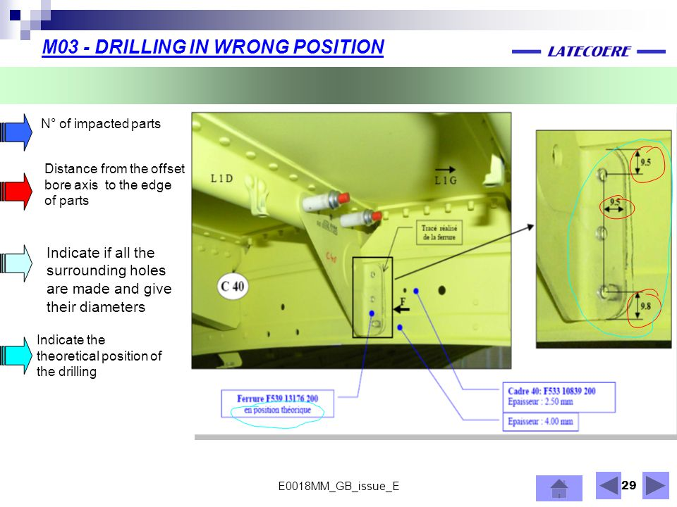 M03 - DRILLING IN WRONG POSITION