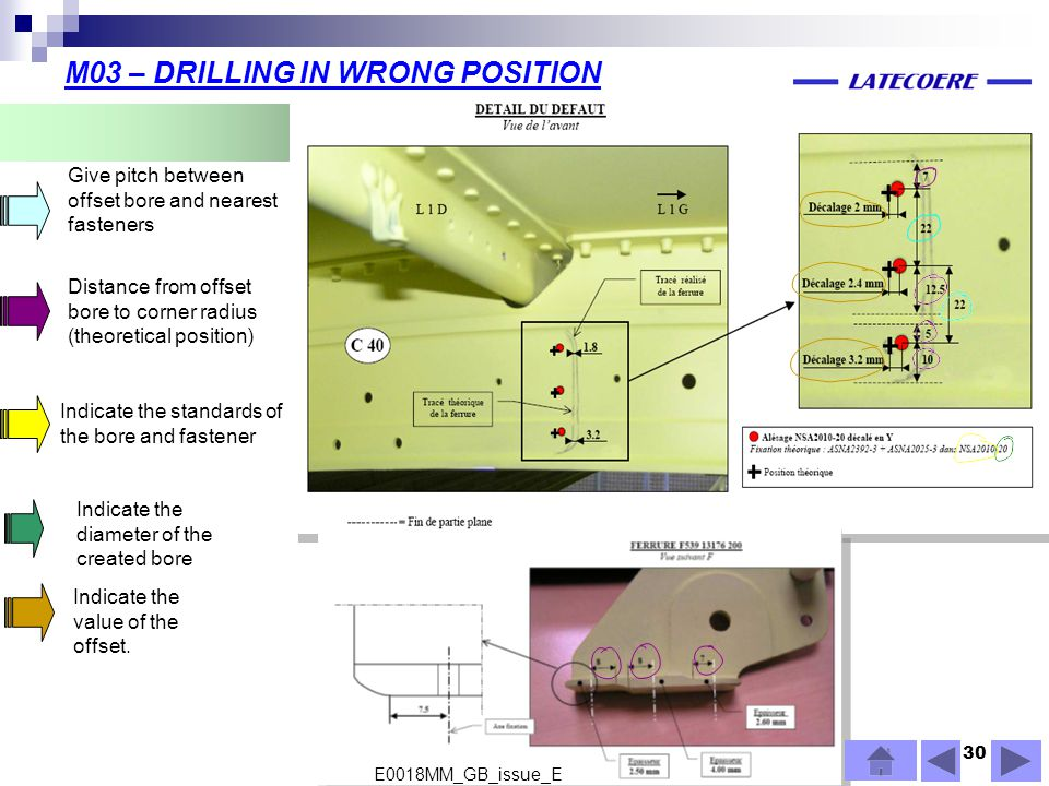 M03 – DRILLING IN WRONG POSITION