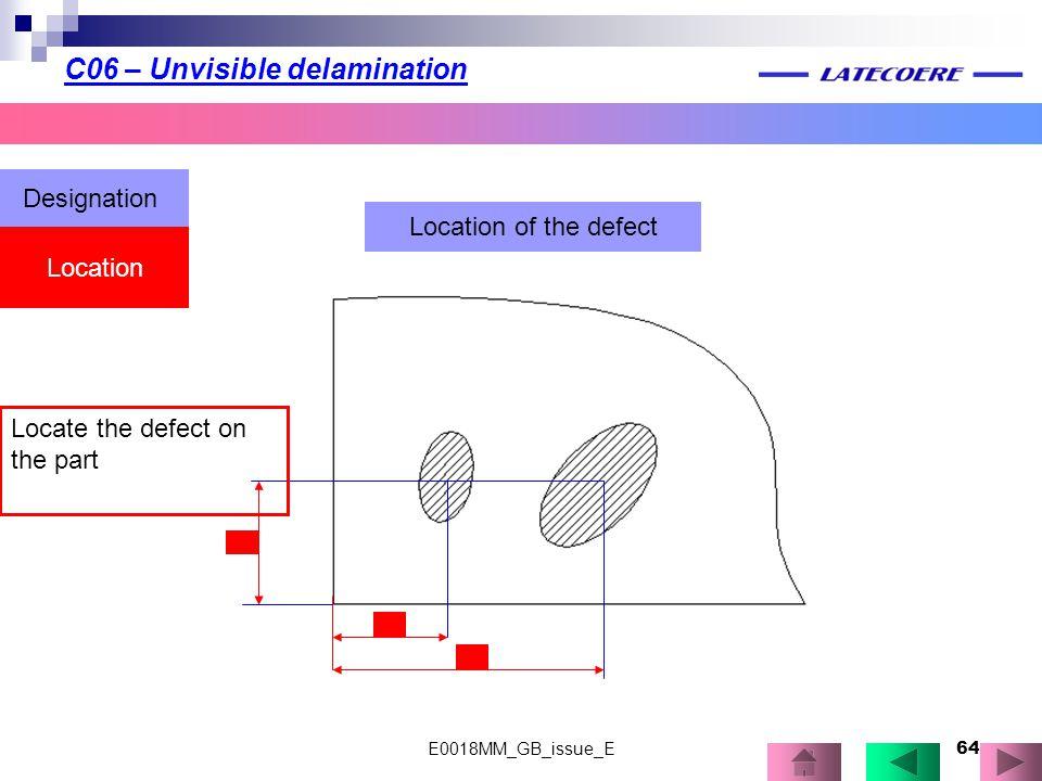 C06 – Unvisible delamination