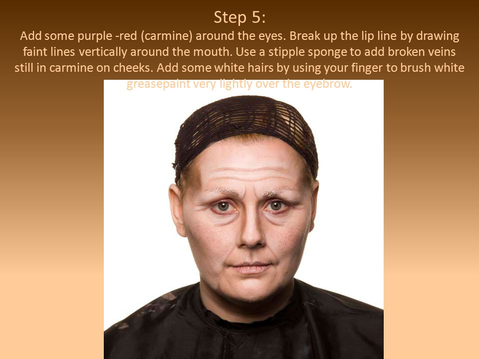 Step 5: Add some purple -red (carmine) around the eyes