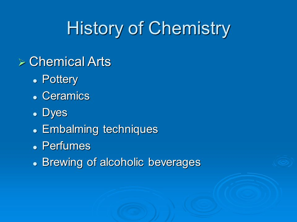 History of Chemistry Chemical Arts Pottery Ceramics Dyes