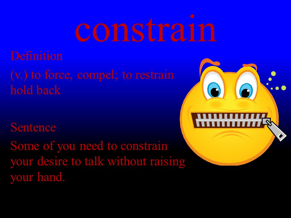 constrain