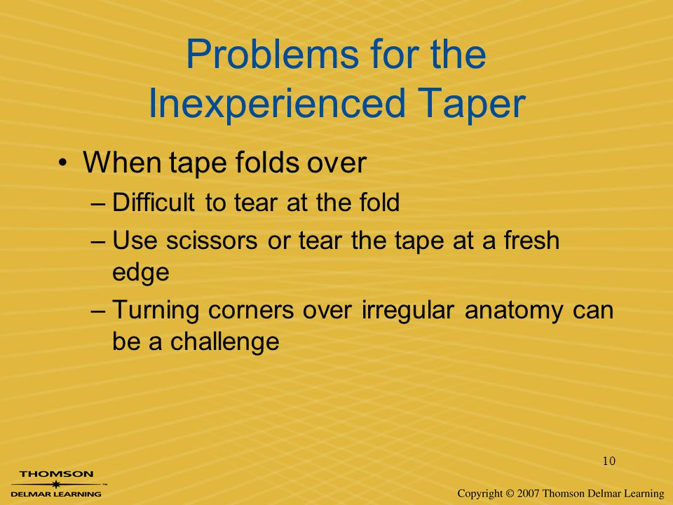 Problems for the Inexperienced Taper