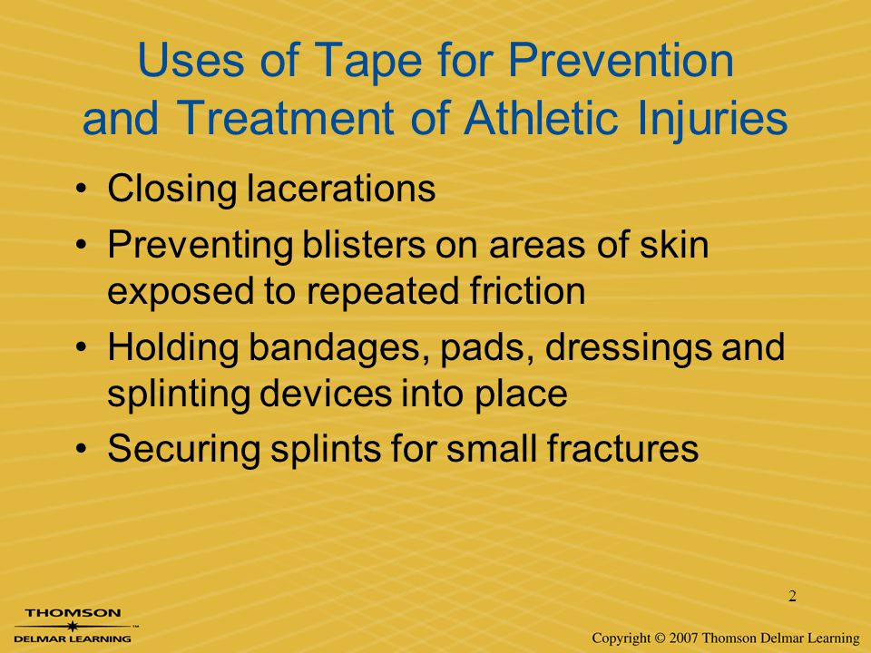 Uses of Tape for Prevention and Treatment of Athletic Injuries
