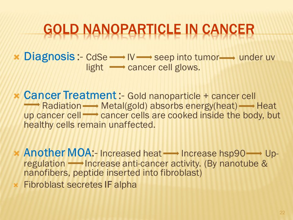 Gold nanoparticle in cancer