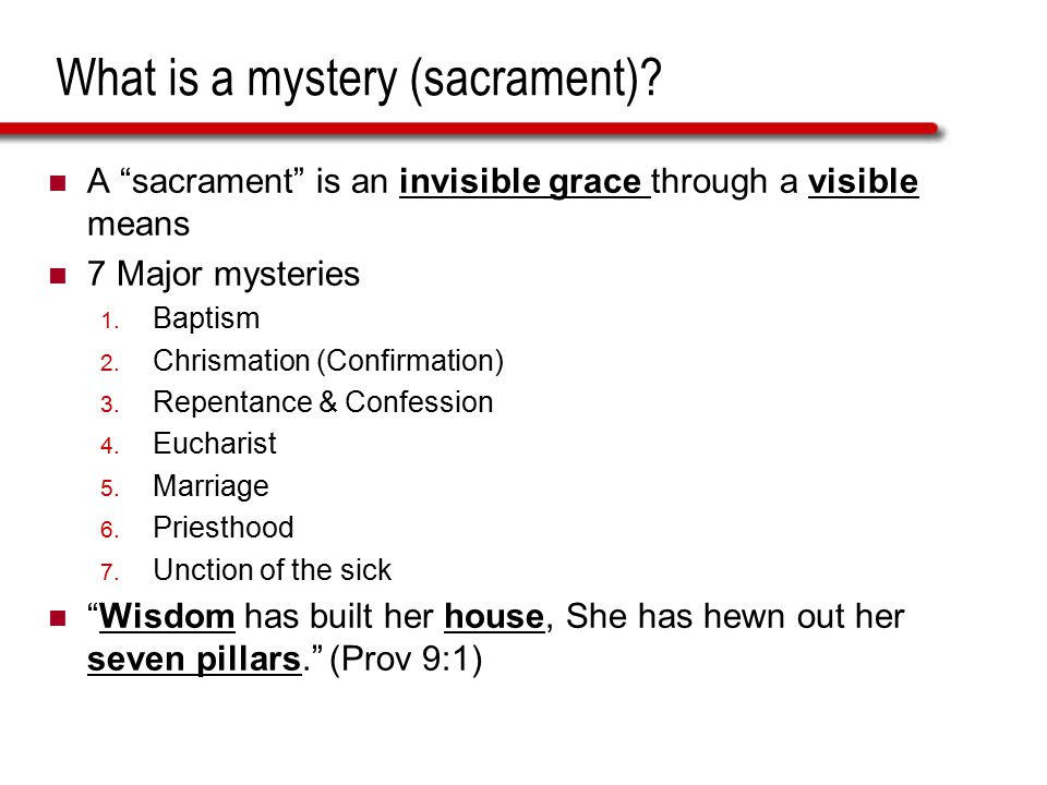What is a mystery (sacrament)