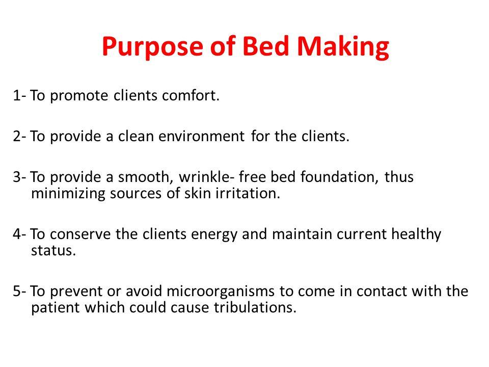 Purpose of Bed Making