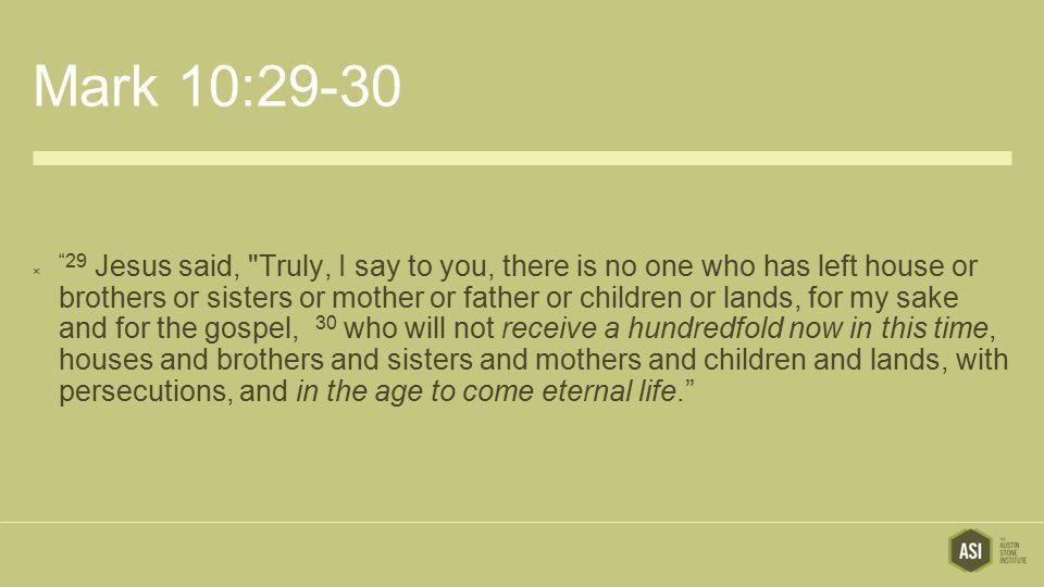 Mark 10:29-30