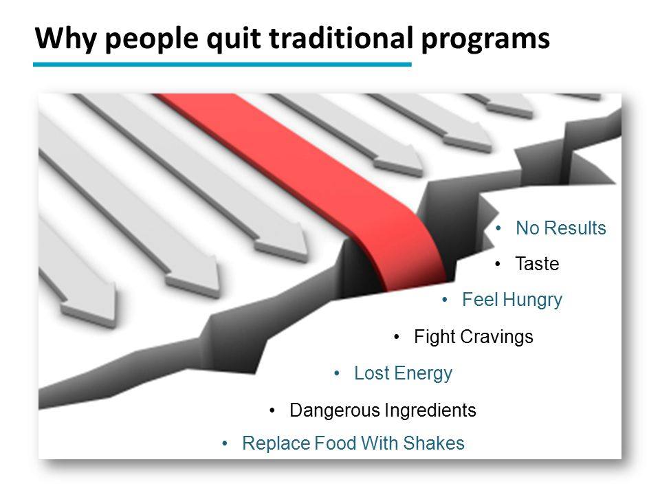 Why people quit traditional programs