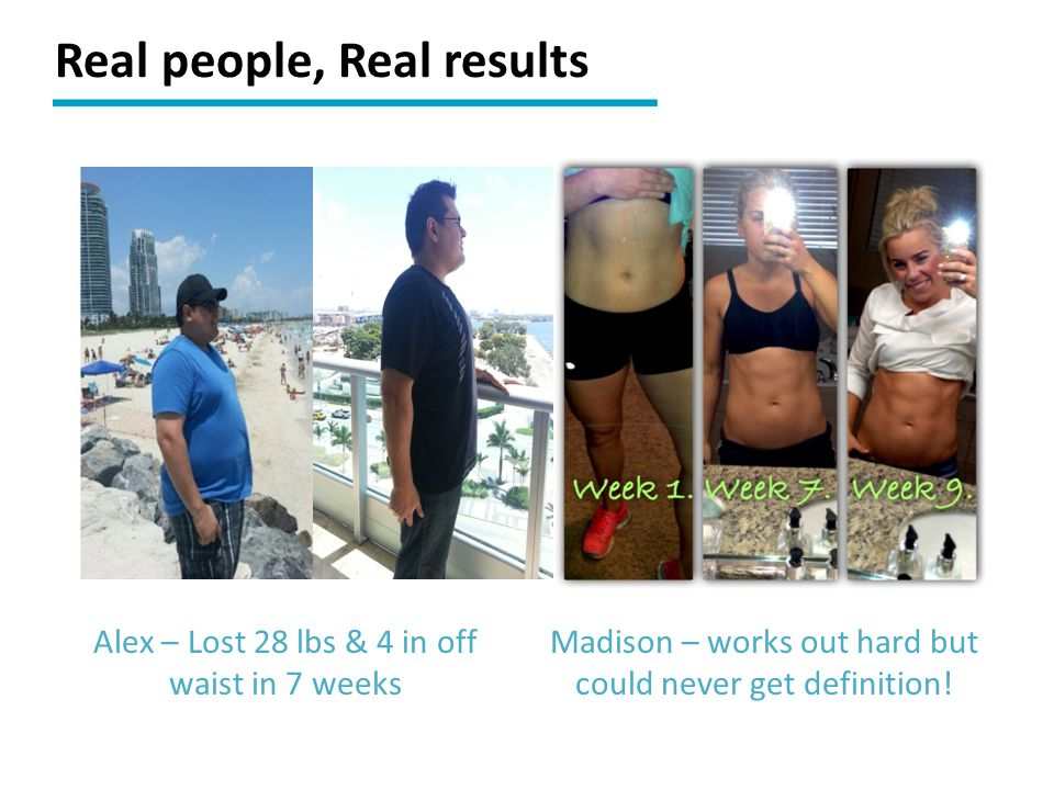 Real people, Real results