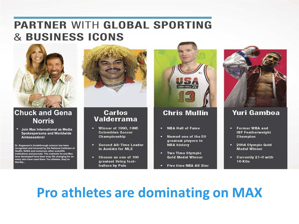 Pro athletes are dominating on MAX