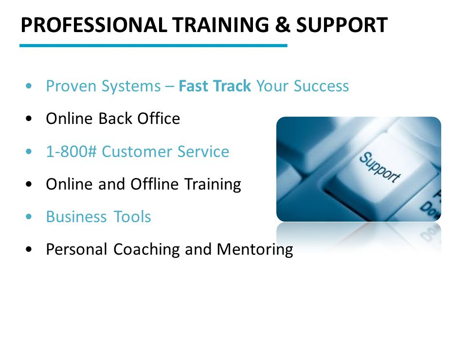PROFESSIONAL TRAINING & SUPPORT