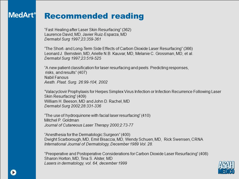Recommended reading Fast Healing after Laser Skin Resurfacing (362)