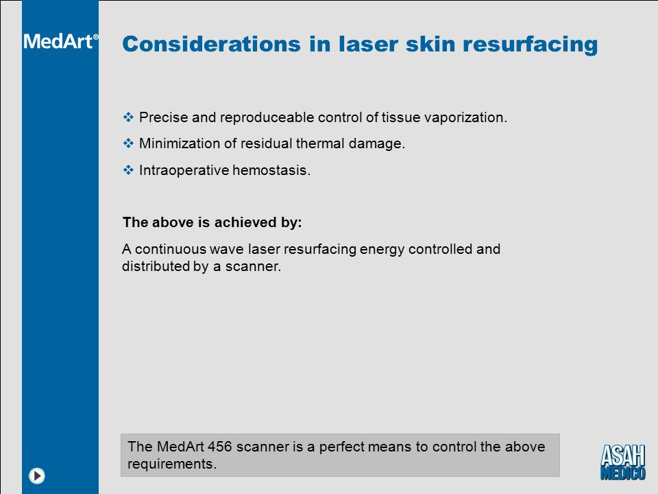 Considerations in laser skin resurfacing