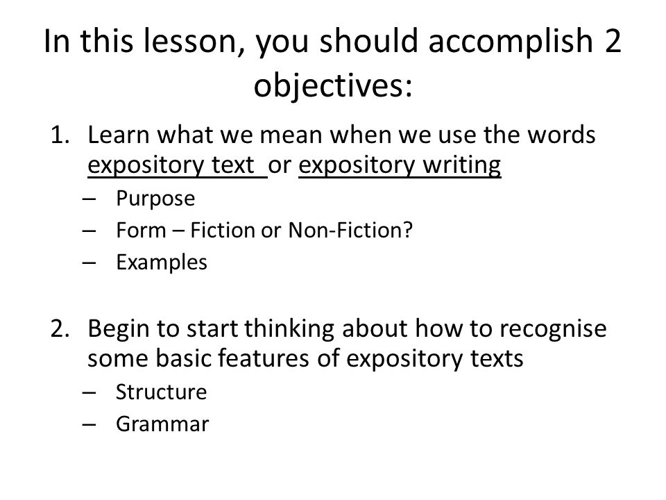 In this lesson, you should accomplish 2 objectives: