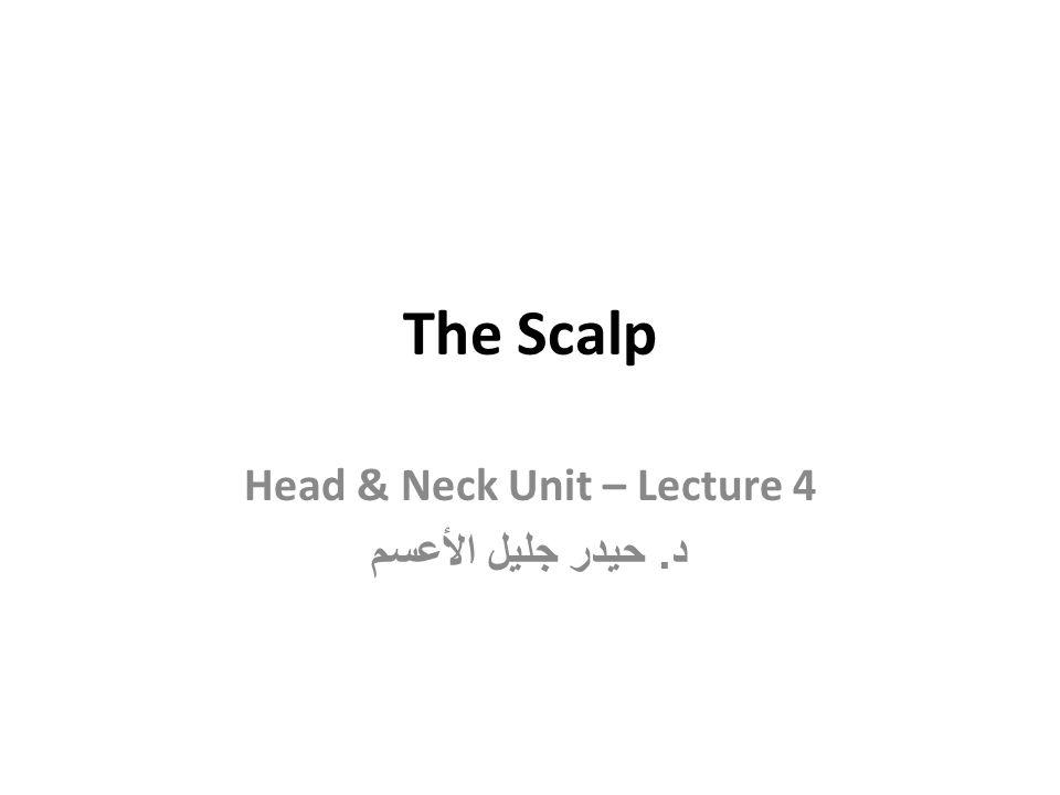 Head & Neck Unit – Lecture 4 د. حيدر جليل الأعسم