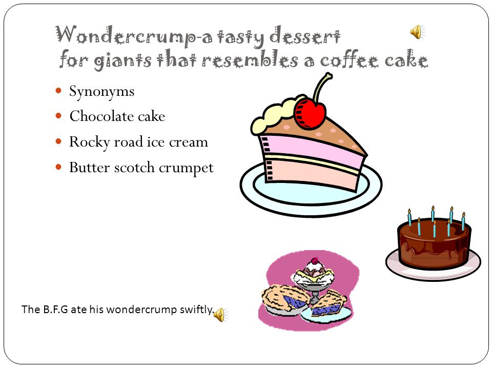 Wondercrump-a tasty dessert for giants that resembles a coffee cake