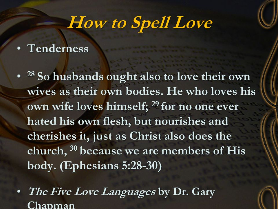 How to Spell Love Tenderness