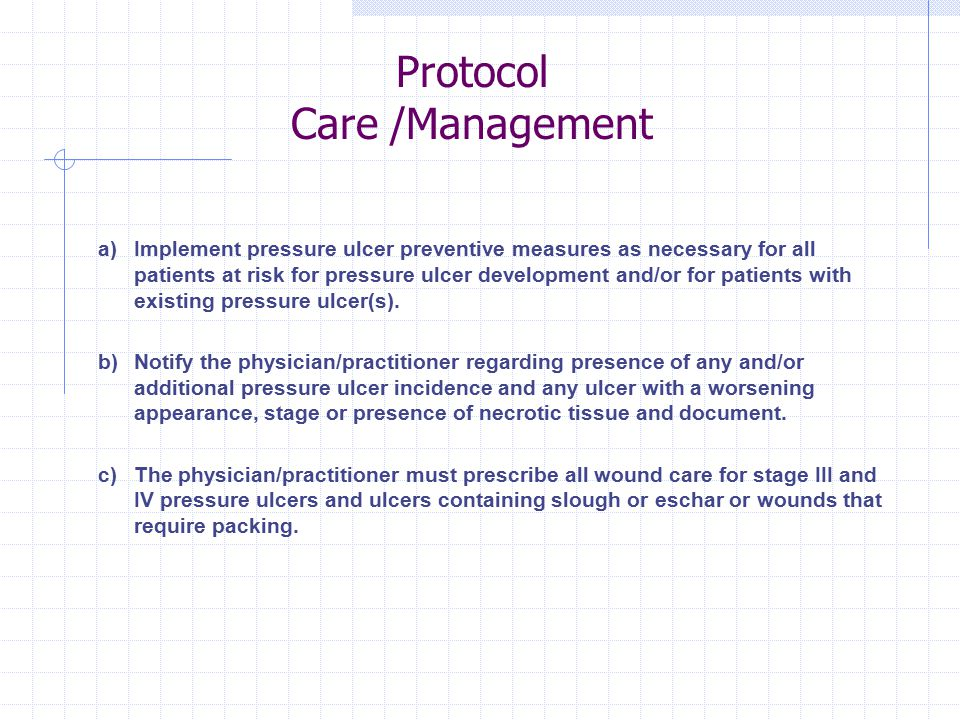 Protocol Care /Management