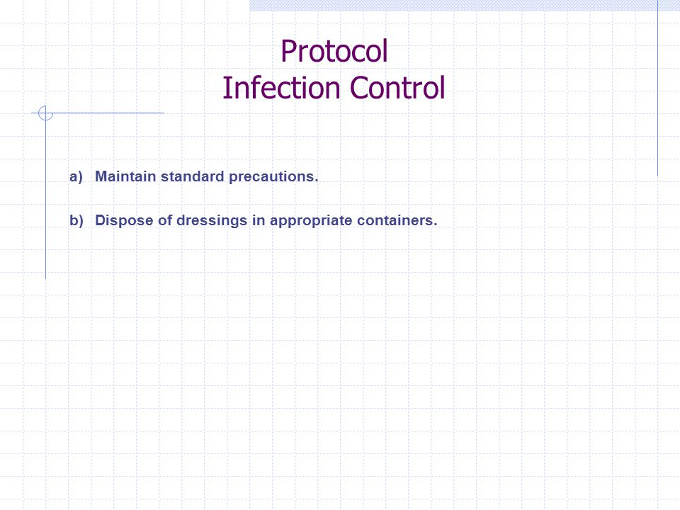 Protocol Infection Control