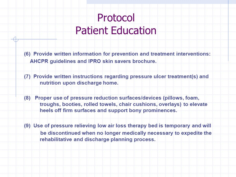Protocol Patient Education