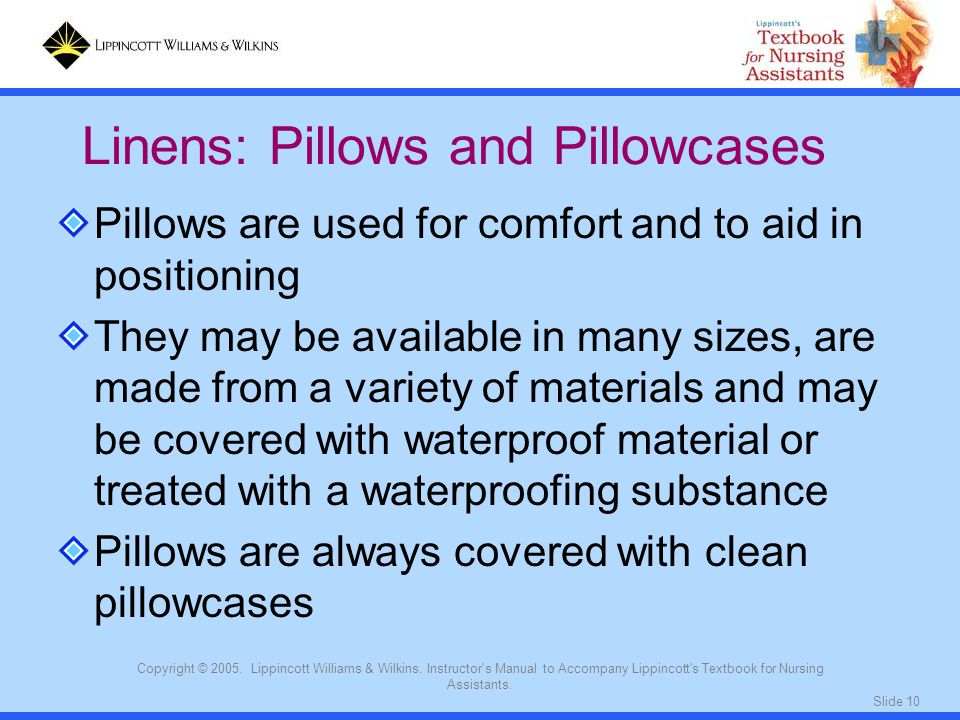 Linens: Pillows and Pillowcases