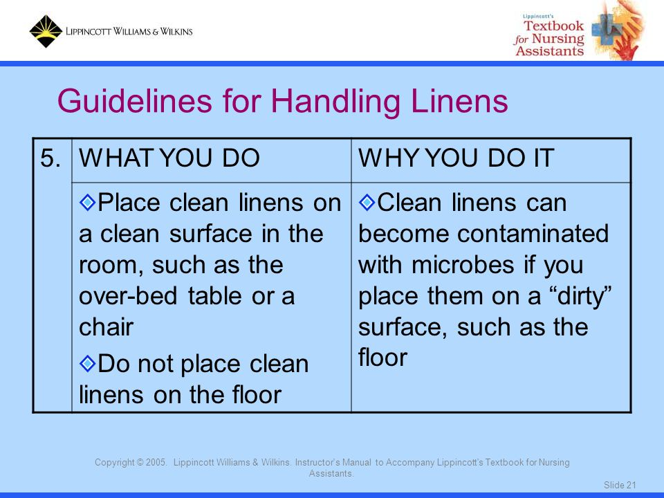 Guidelines for Handling Linens