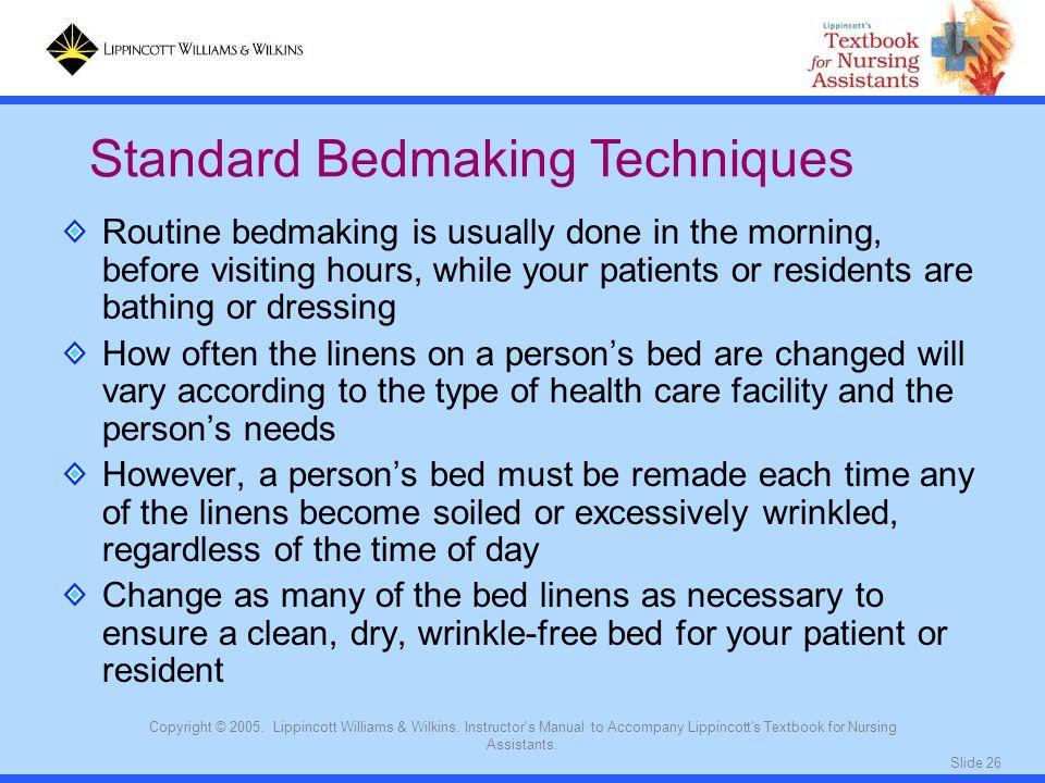 Standard Bedmaking Techniques