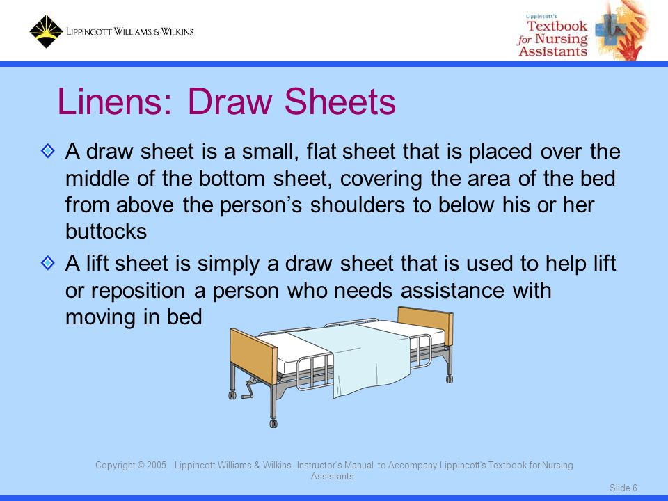 Linens: Draw Sheets