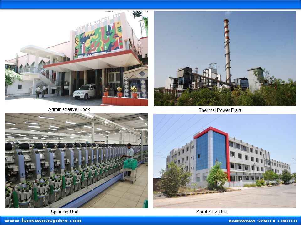 www.banswarasyntex.com Administrative Block Thermal Power Plant