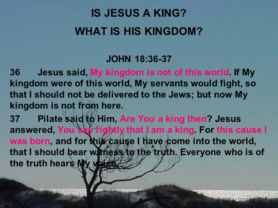 IS JESUS A KING WHAT IS HIS KINGDOM