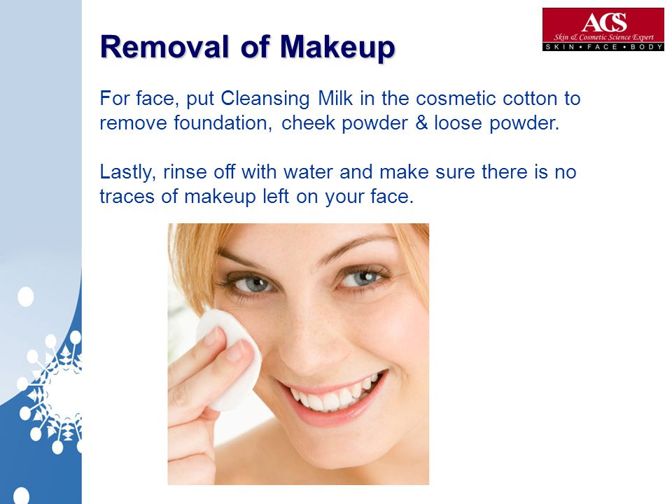 Removal of Makeup