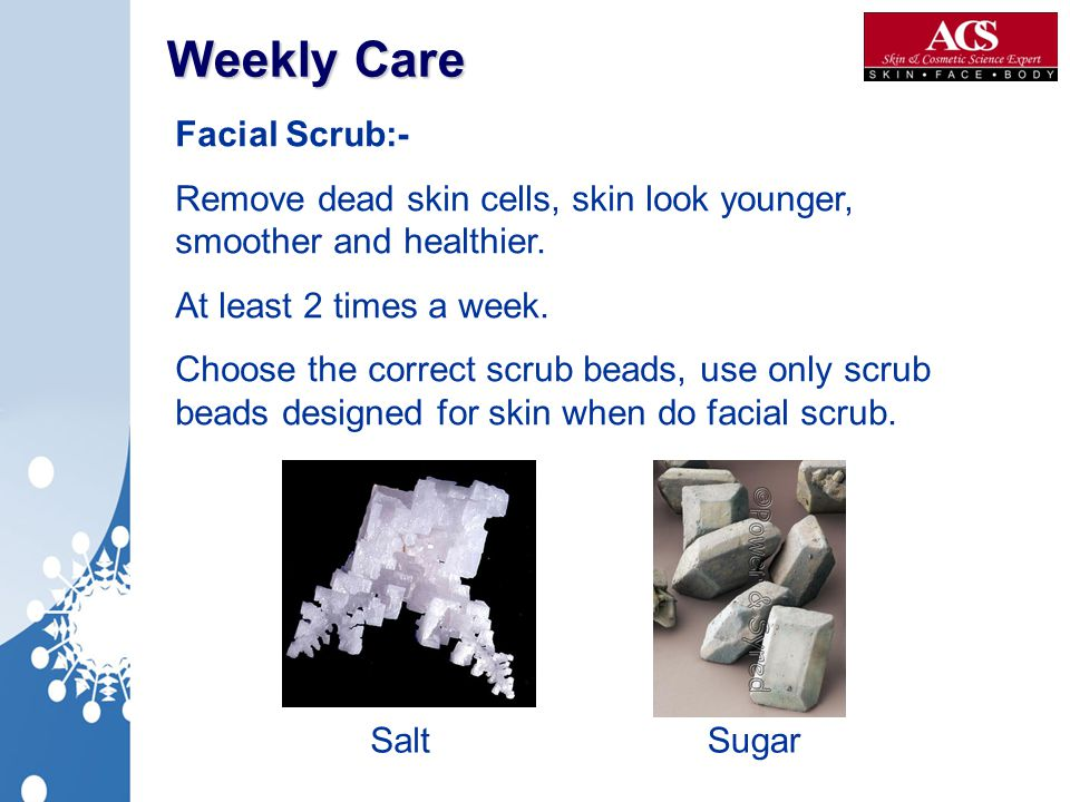 Weekly Care Facial Scrub:-