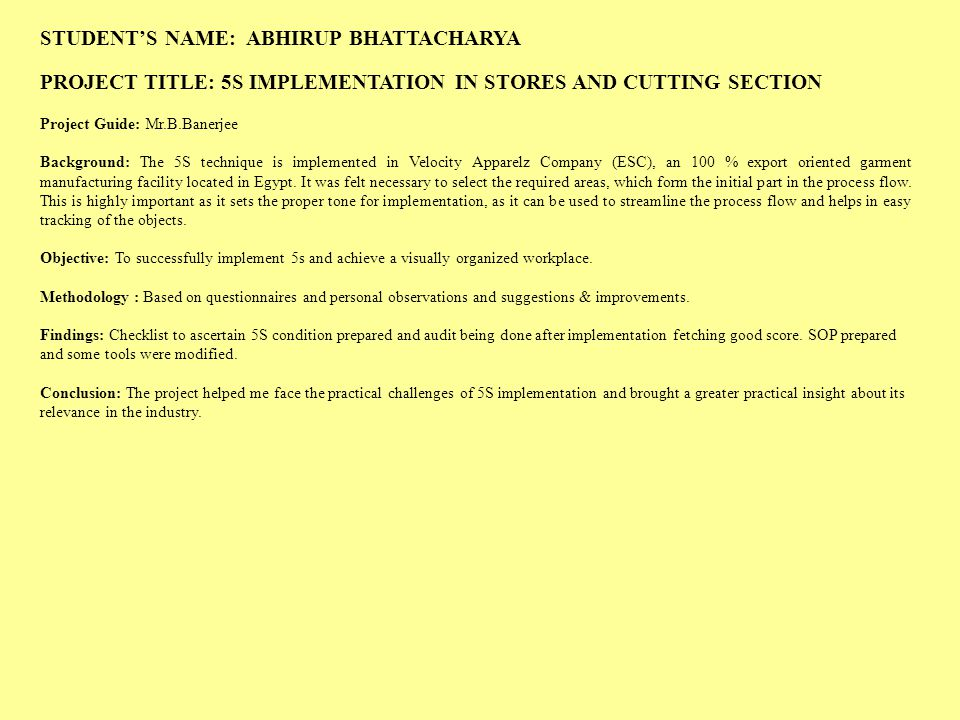 STUDENT'S NAME: ABHIRUP BHATTACHARYA