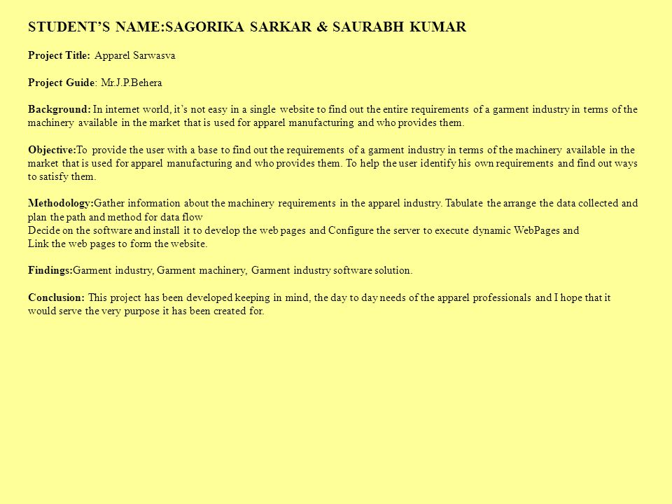 STUDENT'S NAME:SAGORIKA SARKAR & SAURABH KUMAR