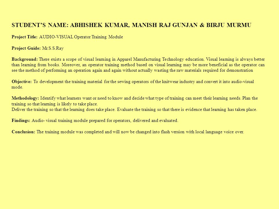 STUDENT'S NAME: ABHISHEK KUMAR, MANISH RAJ GUNJAN & BIRJU MURMU