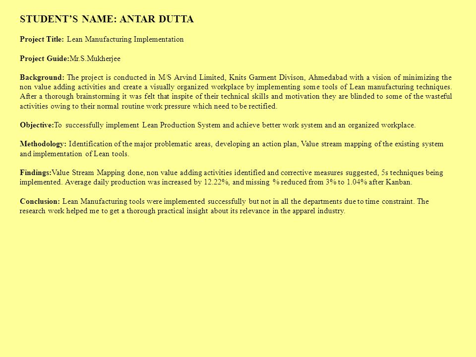 STUDENT'S NAME: ANTAR DUTTA