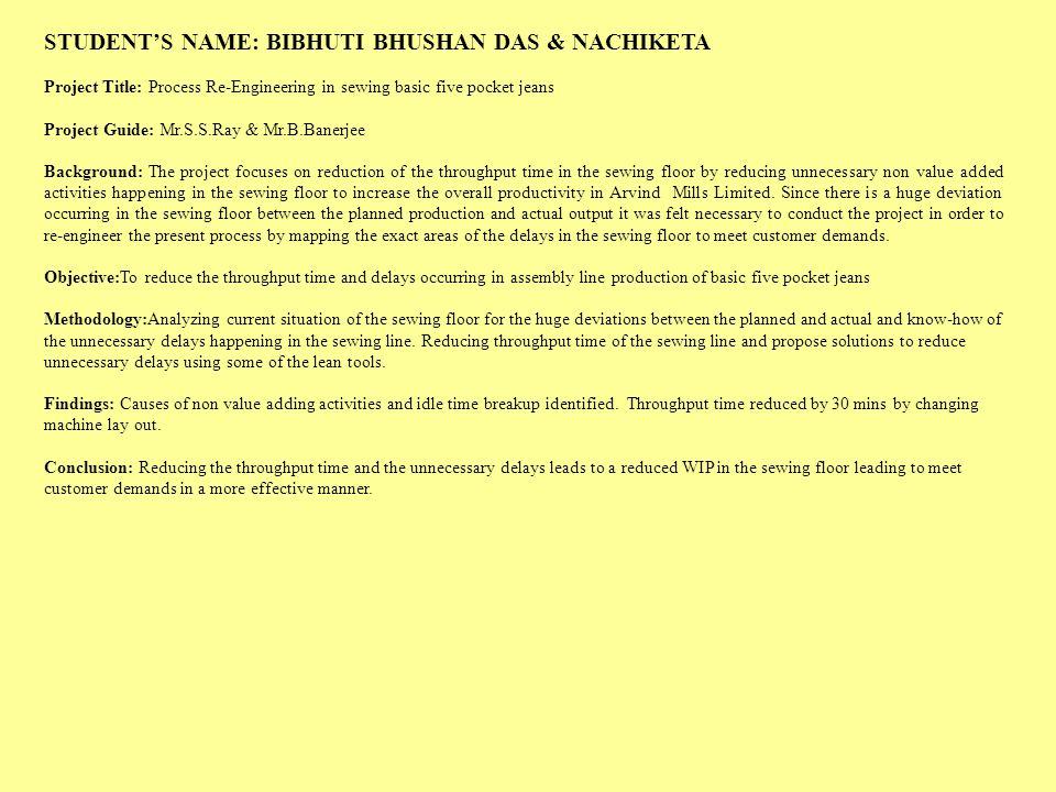 STUDENT'S NAME: BIBHUTI BHUSHAN DAS & NACHIKETA