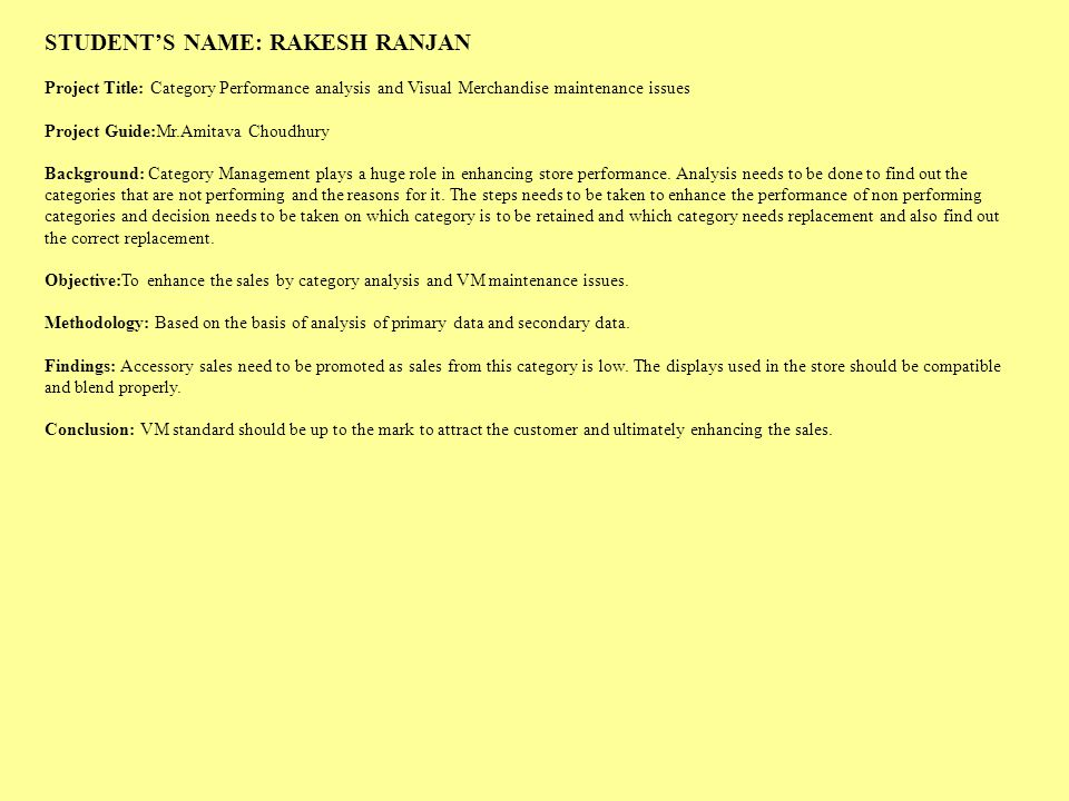 STUDENT'S NAME: RAKESH RANJAN
