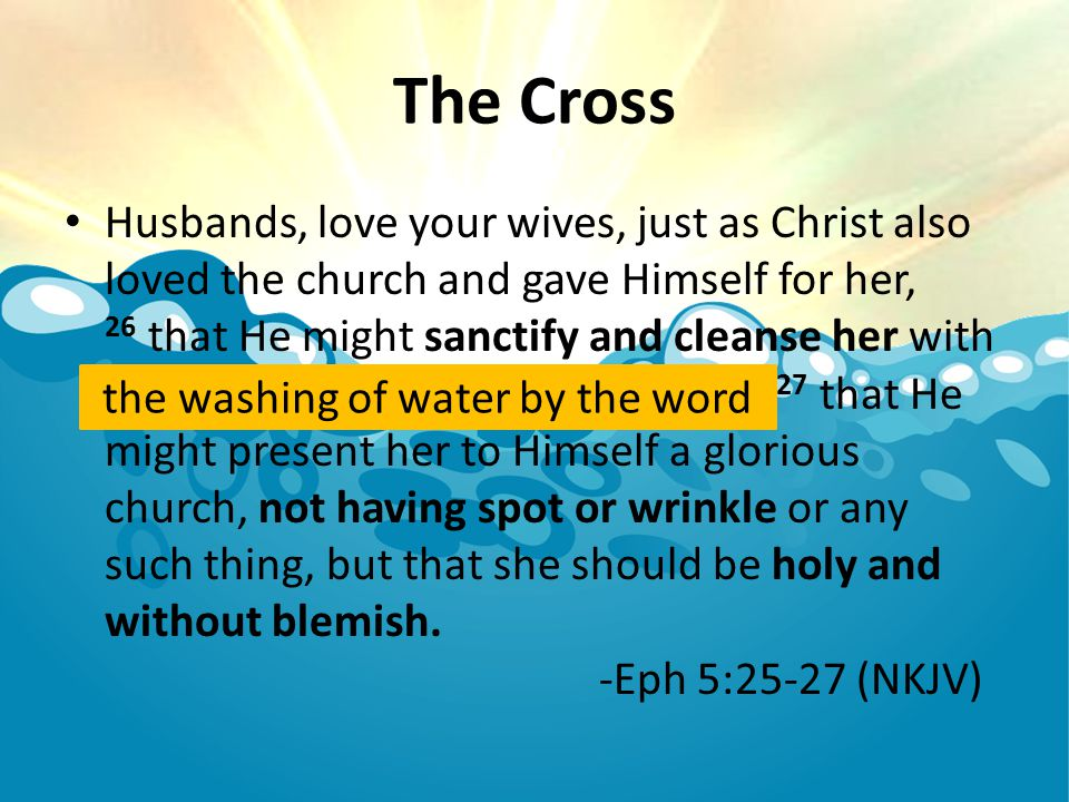 the washing of water by the word