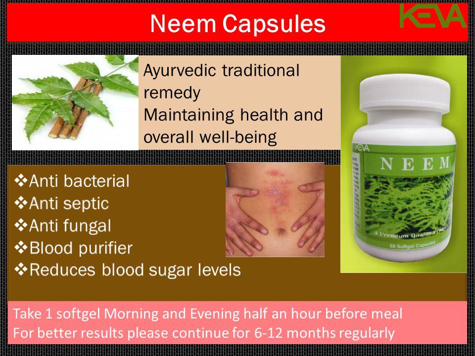 Neem Capsules Ayurvedic traditional remedy