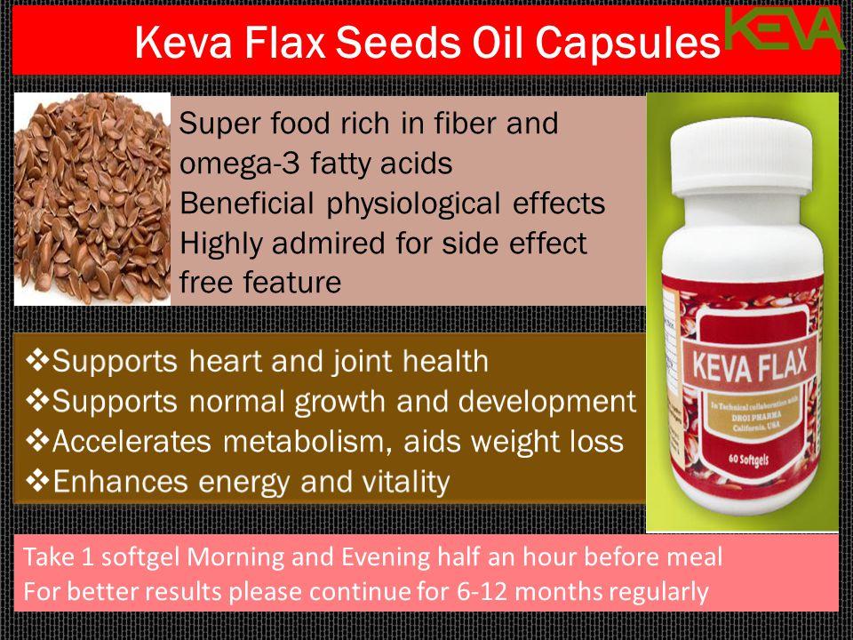 Keva Flax Seeds Oil Capsules