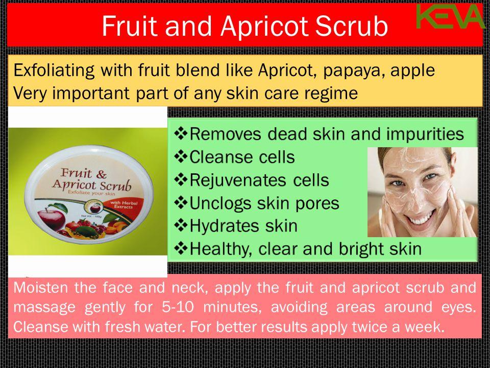 Fruit and Apricot Scrub