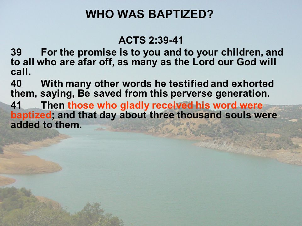 WHO WAS BAPTIZED ACTS 2:39-41