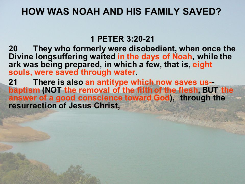 HOW WAS NOAH AND HIS FAMILY SAVED