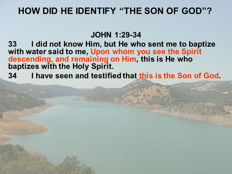 HOW DID HE IDENTIFY THE SON OF GOD