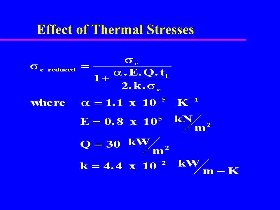 Effect of Thermal Stresses