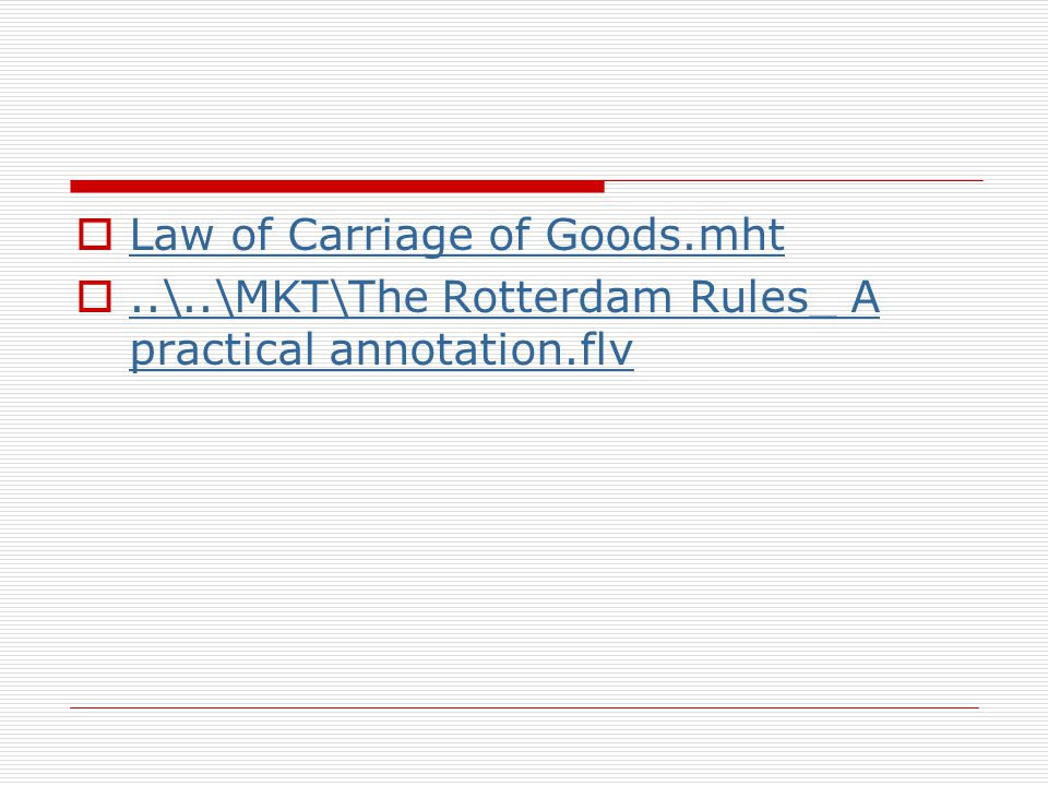 Law of Carriage of Goods.mht