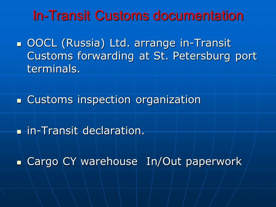 In-Transit Customs documentation