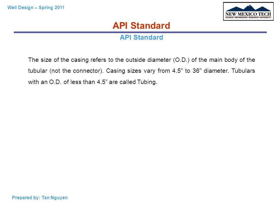 API Standard API Standard